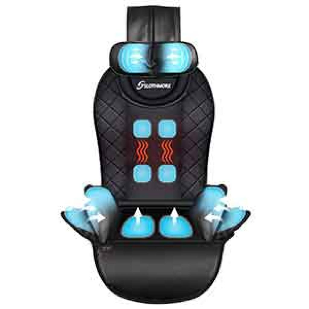 Compress-Back-Massager with Heat,Massage-Seat-Cushion for Car